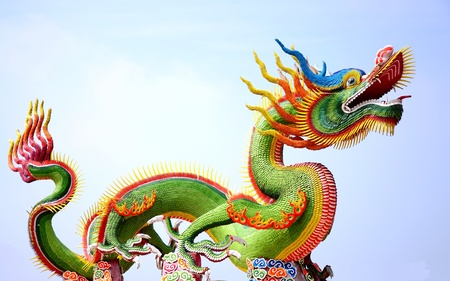 chinese buddha: Dragon