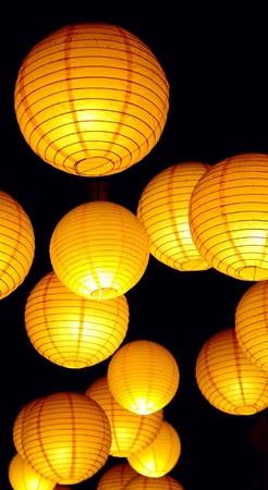 paper lantern: Paper lamp, closeup  Stock Photo