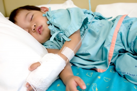 boy Treatment of saline
