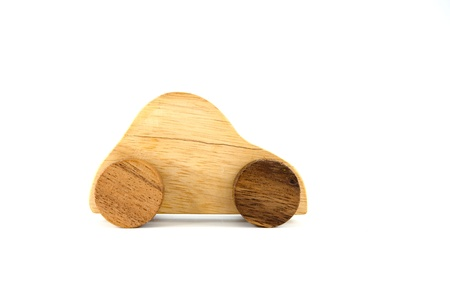 Wooden car toy photo