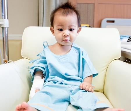 Little boy in hospital photo
