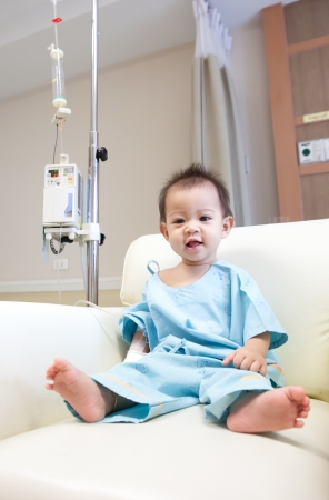 Little boy in hospital photo