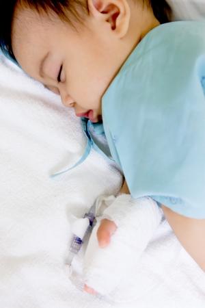 boy patient in hospital photo