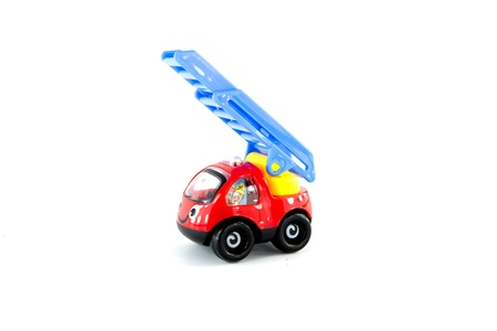 Plastic car toy on white background Stock Photo - 20919745
