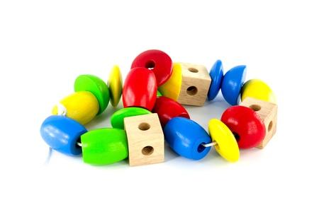juguetes de madera: Juguetes de madera de colores para la construcci?n