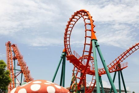 Loops Roller Coaster's Stockfoto
