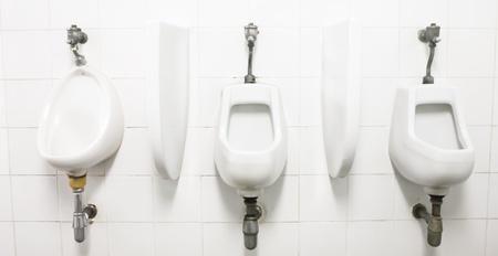 generic location: Mens Room with Urinals-Alternative views below Stock Photo