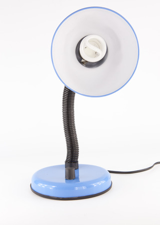 blue desk lamp isolated on white background Stock Photo - 22271014