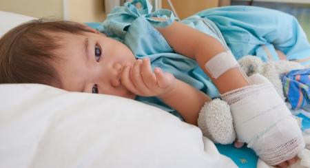 boy patient in hospital