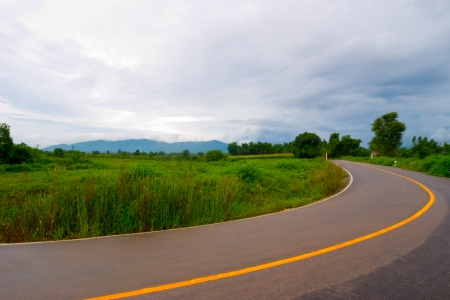 road in mountains in thailand photo