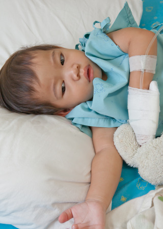 boy patient in hospital photo
