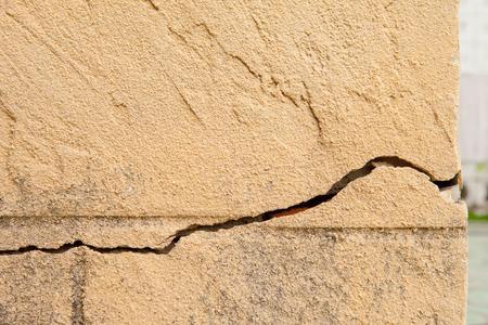 Cracking plaster walls