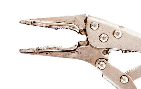 locking: locking plier isolated on white background Stock Photo