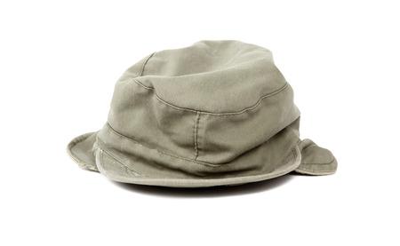 old hat isolated on white background photo
