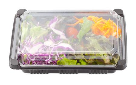 Salade Box op een witte achtergrond Stockfoto