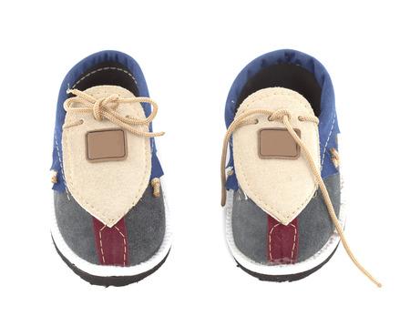 Baby Shoes isolated on white background photo