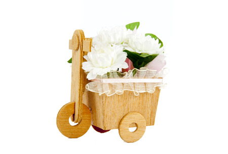 original bike: Flower Bicycles isolated on white background