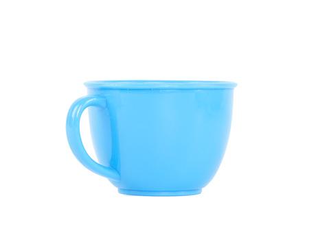 Plastic Mug isolated on white background photo