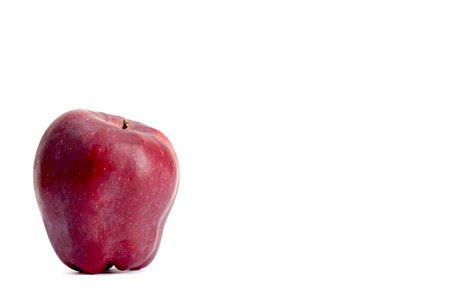 red apple on white background Stock Photo