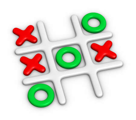 toe: Tic-Tac-Toe colorful game Stock Photo