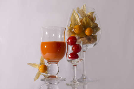 husk tomato: A carrot juice and tomatos