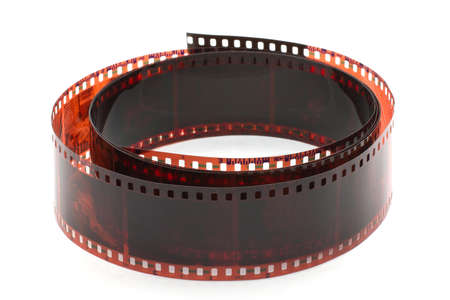 filmroll: photographic film rolled into a roll Stock Photo