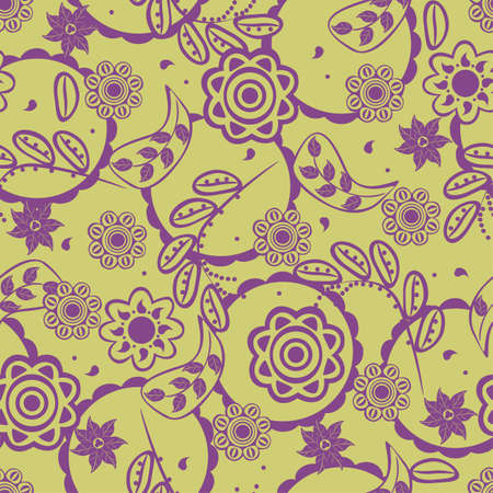 purple wallpaper: Beautiful floral seamless texture, endless pattern with flowers  Illustration