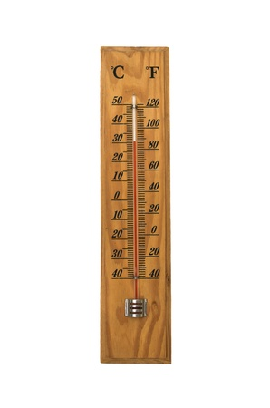household thermometer for temperature on white background Banco de Imagens