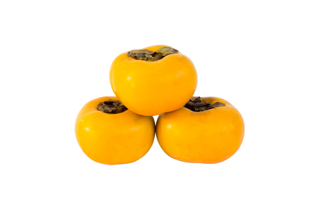 persimmons: persimmons, isolated on white background Stock Photo