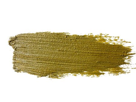 gold brush stroke on white background