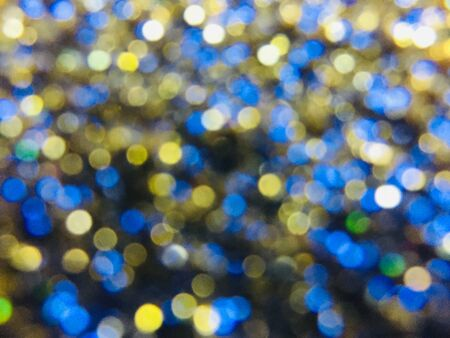 gold blue blurred bokeh background