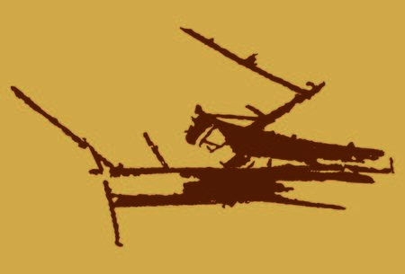 Abstract color painting of Mantis. Mantis silhouette Vettoriali