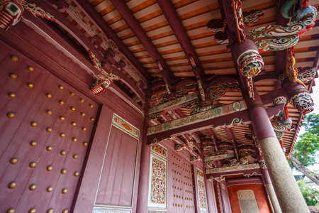 Exterior of the Confucian Temple complex in Tainan, Taiwan, Republic of China, Asia