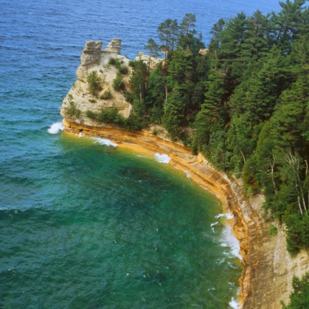 pictured: Miner s Castle   Pictured Rocks National Lakeshore,MI