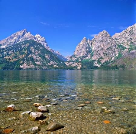 Jenny Lake Expansion   Grand Teton National Park,WY Фото со стока