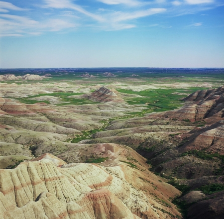 overlook: Panorama Point Overlook - Badlands National Park Stock Photo