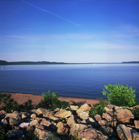 vista: Lake Pepin Vista - Minnesota Stock Photo