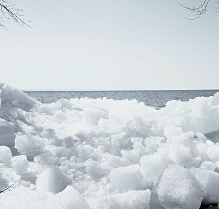 mille: Monochromatic Ice Floes - Mille Lacs Lake, Minnesota