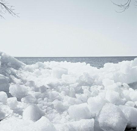 Monochromatic Ice Floes - Mille Lacs Lake, Minnesota