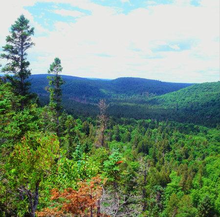 overlook: Moose Mountain Overlook On Sawtooth Range - MN Stock Photo