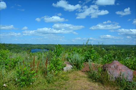 rec: Summer panoramic - Cuyuna Country Rec. Area, MN Stock Photo