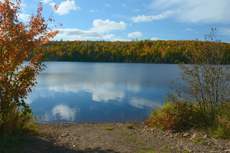 mn: Scenic Hare Lake in Superior National Forest, MN