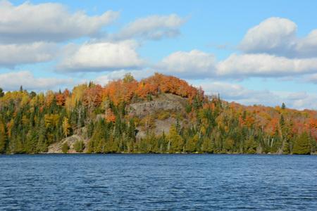 minnesota: Scenic Rock Promontory At Caribou Lake - Minnesota Stock Photo