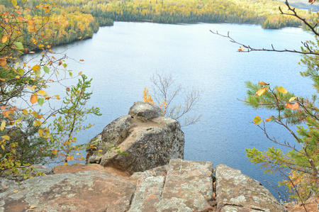 overlook: Autum Overlook On Hungry Jack Lake - Minnesota