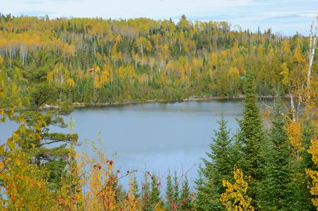 overlook: Autumn Overlook At The Laurentian Divide Stock Photo