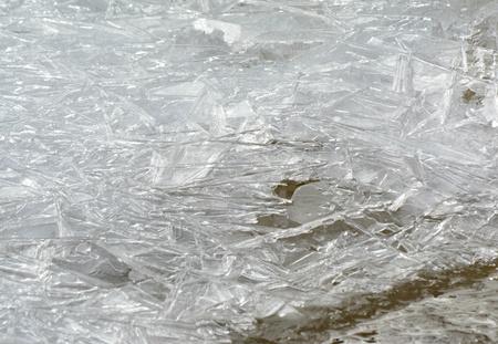 Fragmented Frozen Creek Ice Patterns