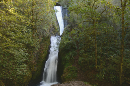 Bridal Veil Falls in Columbia River Gorge - Oregon.