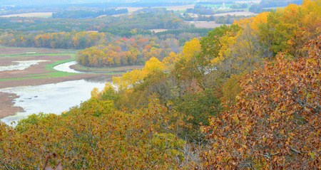 freshwater: Trempeleau River Valley from Perrot State Park - WI.