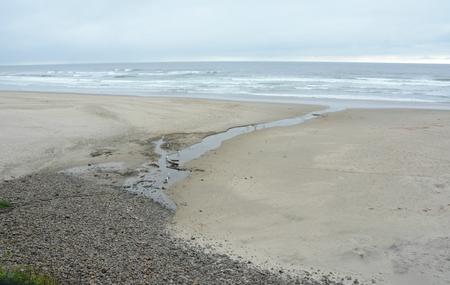 Abstract of Arcadia Beach on the Oregon north coast.