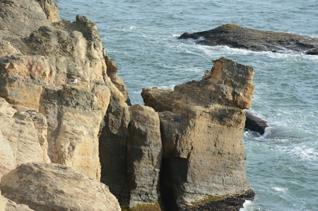 Devils Punch Bowl formations, Oregon central coast. 스톡 콘텐츠